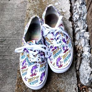 Vans Dallas Clayton Skating Unicorns Sneakers W-6